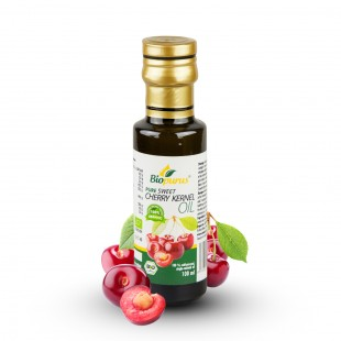 Certified Organic Cold Pressed Sweet Cherry Kernel Oil 100ml Biopurus