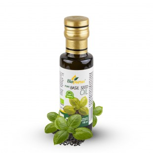 Certified Organic Cold Pressed Basil Seed Oil 100ml Biopurus