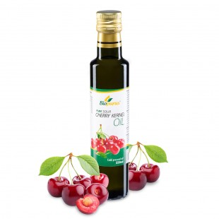 Certified Organic Cold Pressed Sour Cherry Kernel Oil 250ml Biopurus