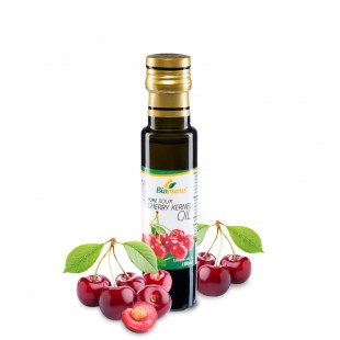 Certified Organic Cold Pressed Sour Cherry Kernel Oil 100ml Biopurus