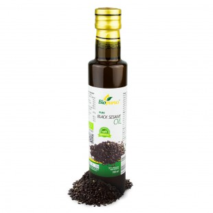 Certified Organic Cold Pressed Black Sesame Oil 250ml Biopurus