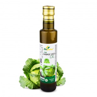 Pure Certified Organic Cold Pressed Cabbage Seed Oil 250ml Biopurus