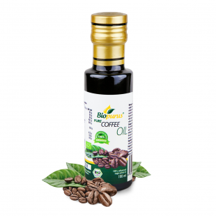 Certified Organic Cold Pressed Coffee Bean Oil 100ml Biopurus