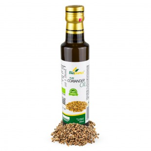 Certified Organic Cold Pressed Coriander Oil 250ml Biopurus