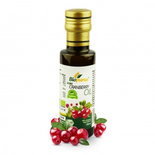 Certified Organic Cold Pressed Cranberry Seed Oil 100ml Biopurus
