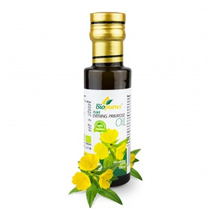 Certified Organic Cold Pressed Evening Primrose Oil 100ml Biopurus