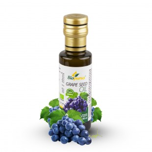 Certified Organic Cold Pressed Grape Seed Oil 100ml Biopurus