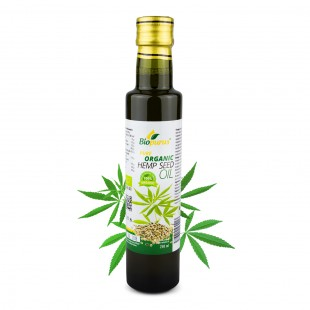Certified Organic Cold Pressed Hemp Seed Oil 250ml Biopurus