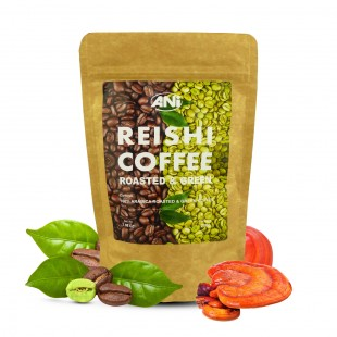 Organic Reishi Coffee Black&Green grounded 100g ANi (doypack)