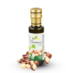 Certified Organic Cold Pressed Macadamia Nut Oil 100ml Biopurus
