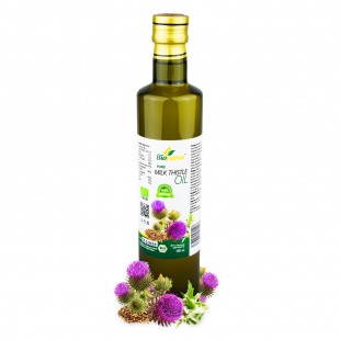Certified Organic Cold Pressed Milk Thistle Seed Oil 500ml Biopurus