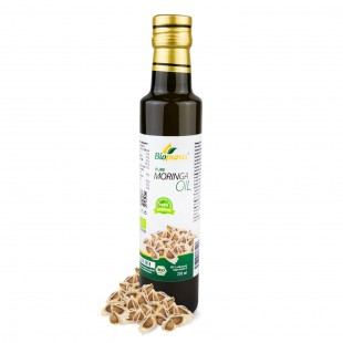 Certified Organic Cold Pressed Moringa Seed Oil 250ml Biopurus