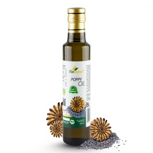 Certified Organic Cold Pressed Poppy Seed Oil 250ml Biopurus