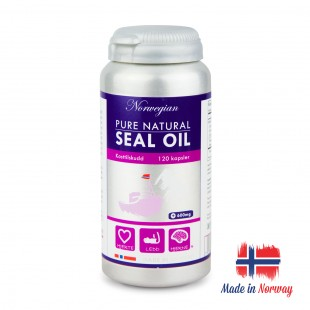 Premium Norwegian Pure Natural Seal Oil Omega-3, 6 120 Capsules Norwegian Pharma