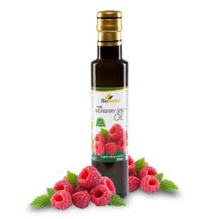 Certified Organic Cold Pressed Raspberry Seed Oil 250ml Biopurus