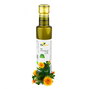 Certified Organic Cold Pressed Safflower seed Oil 250ml Biopurus