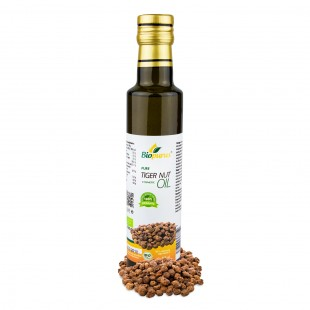 Certified Organic Cold Pressed Tiger Nut Cosmetic Oil 250ml Biopurus