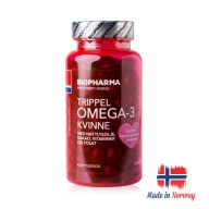 Premium Norwegian Triple Omega-3 Kvinne for Woman 120 capsules