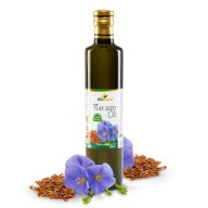 Certified Organic Cold Pressed Flax Seed Oil 500ml Biopurus