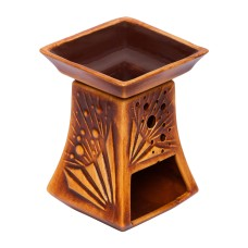 Pyramid Handmade Ceramic Aroma Lamp - Essential Oil Burner for Aromatherapy