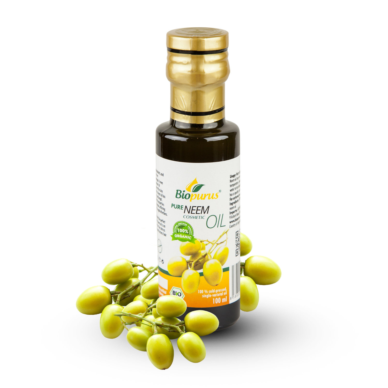 Organic Cold Pressed Neemr Cosmetic Oil 100ml Biopurus